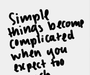 quotes, simple, and complicated image