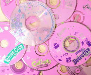 pink, cd, and grunge image