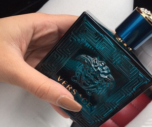 nails, perfume, and Versace image