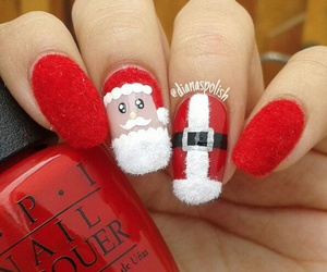 beauty, christmas, and nail polish image