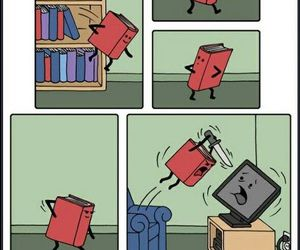 book, funny, and tv image