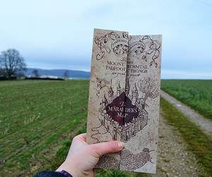 harry potter, map, and photography image