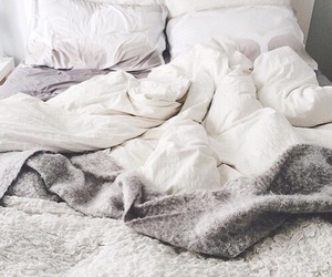bed, white, and home image