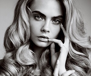 black and white and cara delevingne image