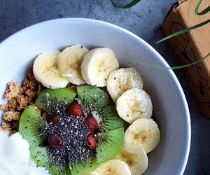 banana, food, and kiwi image