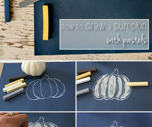 pastels, pumpkin, and how to draw image