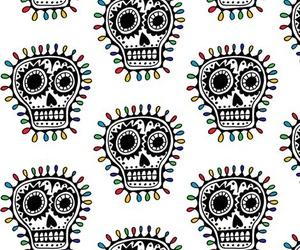 patterns, skulls, and wallpaper image