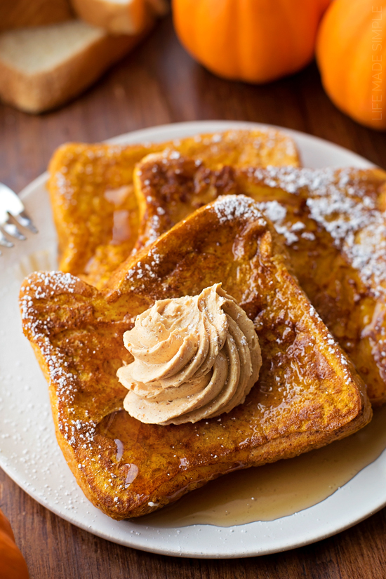 french toast, maple, and pumpkin image
