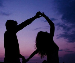 love, couple, and sky image