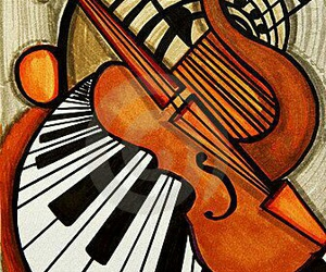 music, art, and instruments image