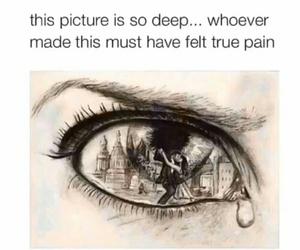 deep, sad, and art image