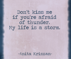 quote, storm, and kiss image