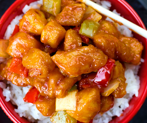 Chicken, chinese, and sweet and sour image