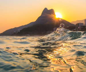 sun, summer, and sunset image