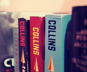 the hunger games, books, and collins image