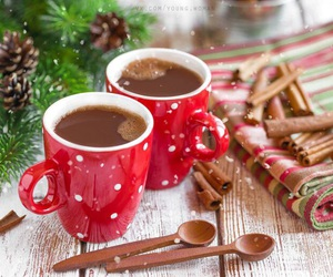 black coffee, cups, and happy new year image