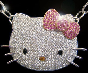 hello kitty, jewelry, and necklace image
