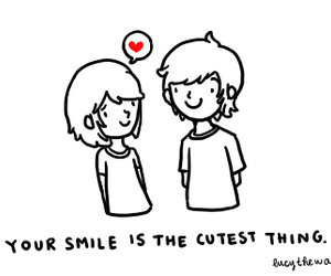 smile, love, and thing image