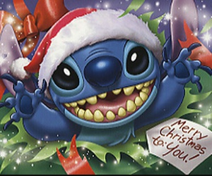 christmas, merry, and stich image