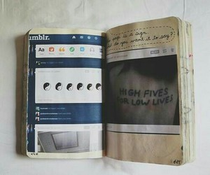 tumblr, book, and hipster image