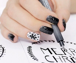 nails, christmas, and black image