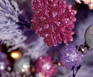 christmas, purple, and pink image
