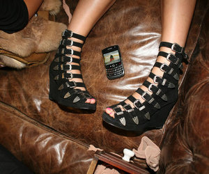shoes, blackberry, and heels image