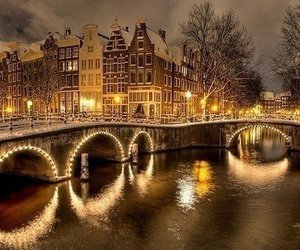 light, amsterdam, and winter image