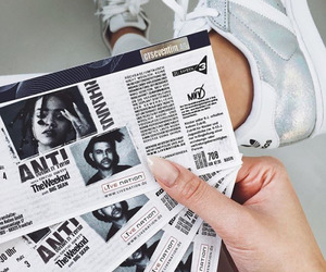 rihanna, adidas, and ticket image