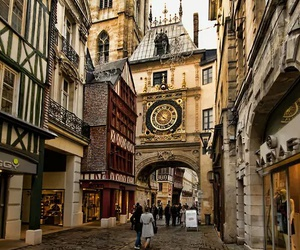 city, france, and rouen image