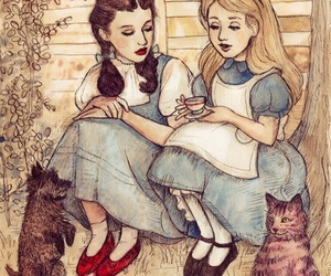 alice, dorothy, and alice in wonderland image