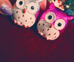 lip balm, nails, and owls image