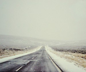 road, nature, and winter image