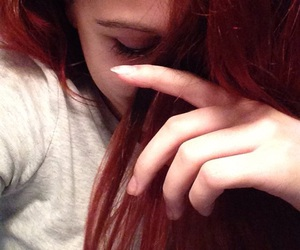 idk, hair goals, and red hair image
