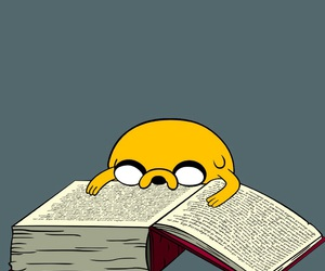 book, JAKe, and adventure time image