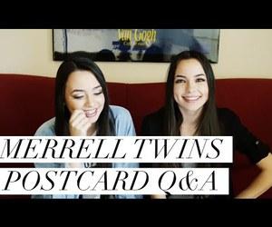 postcard, sisters, and twins image