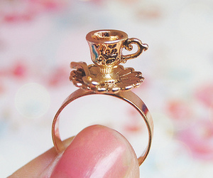 ring, cup, and gold image