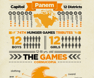 the hunger games, hunger games, and panem image