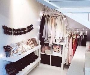 clothes, shoes, and room image