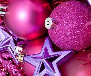 pink, christmas, and wallpaper image
