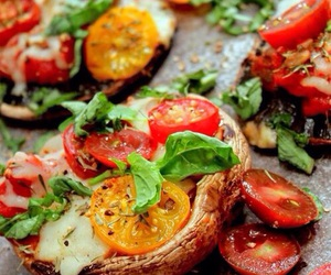 healthy, food, and pizza image