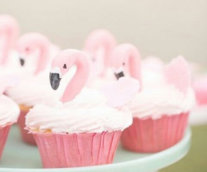 cupcake, flamingo, and food image