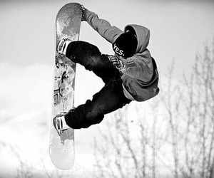 snowboard, snow, and snowboarding image