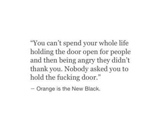 quote, orange is the new black, and life image