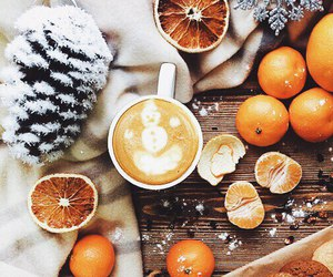 winter, christmas, and coffee image