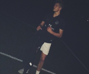 guy, nike, and soccer image