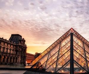 paris, louvre, and france image