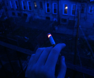 cigarette, blue, and grunge image