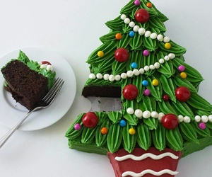 christmas, cake, and dessert image