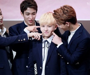 woozi, Seventeen, and DK image